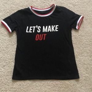 Shirt «let's make out»